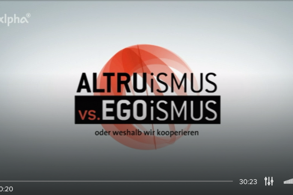 Altruismus versus Egoismus – why we cooperate